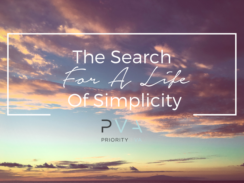 The Search For A Life Of Simplicity