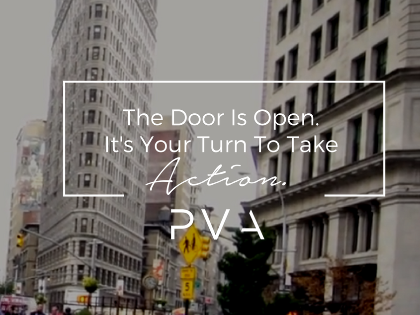 The Door Is Open. It's Your Turn To Take Action