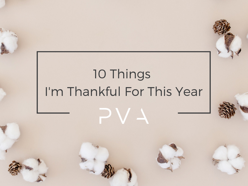 10 Things I'm Thankful For This Year
