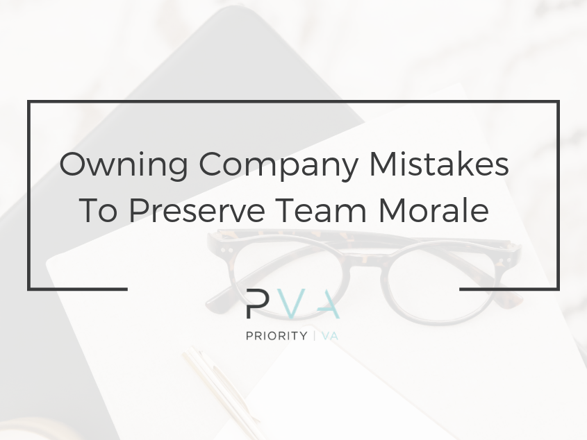 Owning Company Mistakes To Preserve Team Morale