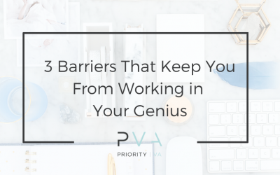 3 Barriers That Keep You From Working in Your Genius