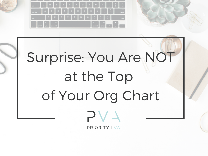 Surprise: You Are NOT at the Top of Your Org Chart