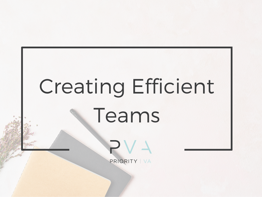 Creating Efficient Teams