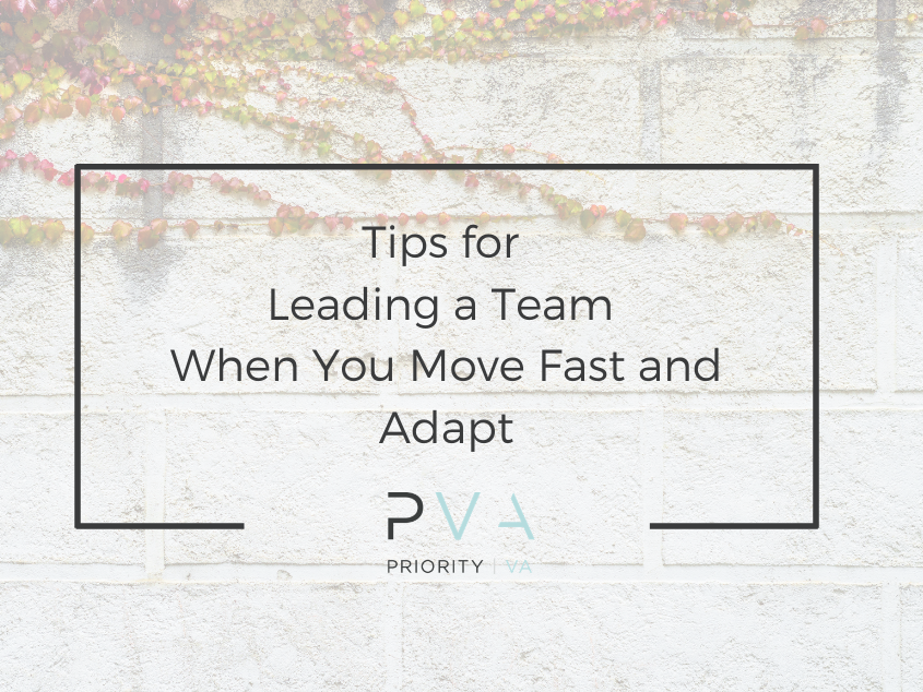 Tips for Leading a Team When You Move Fast and Adapt