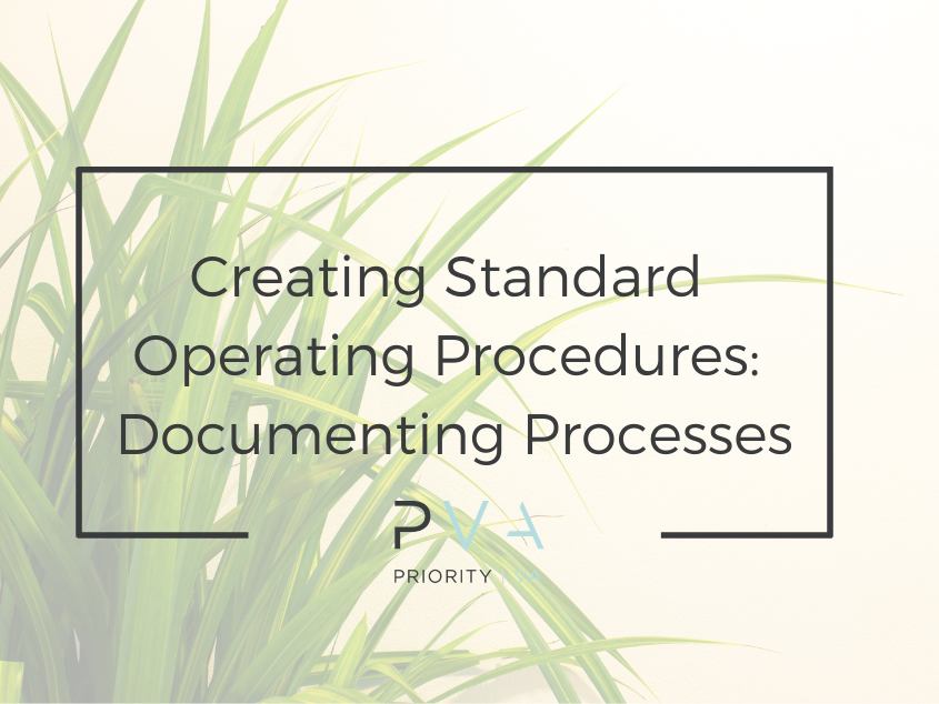 Creating Standard Operating Procedures: Documenting Processes
